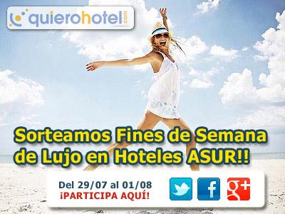 Imagen de Sorteo Fines de Semana GRATIS en Hoteles 4* ASUR de Huelva