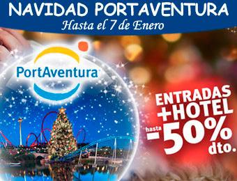 Compra tu Hotel + Entradas Ofertas Navidad PortAventura 50% Descuento
